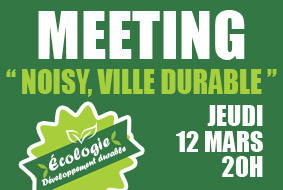 MEETING « Noisy, ville durable »