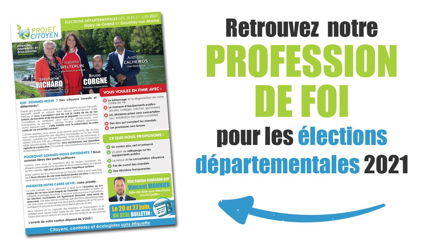 profession de foi départementales 2021